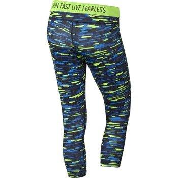 spodnie do biegania damskie 3/4 NIKE PRINTED RELAY CROP / 686063-367