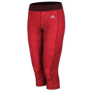 spodnie sportowe damskie 3/4 ADIDAS GO TO GEAR TECHFIT HEATHER CAPRI / A99749