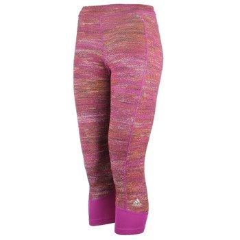 spodnie sportowe damskie 3/4 ADIDAS TECHFIT CAPRI PRINTED HEATHER / AY4321