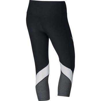 spodnie sportowe damskie 3/4 NIKE POWER LEGENDARY CAPRI FBRIC TWIST / 833326-010