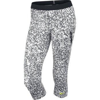 spodnie tenisowe damskie 3/4 NIKE SLAM PRINTED CAPRI / 646194-100