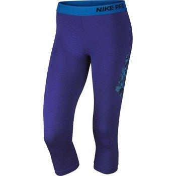 spodnie termoaktywne damskie 3/4 NIKE PRO LOGO CAPRI / 683553-455