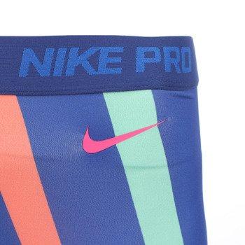 spodnie termoaktywne damskie 3/4 NIKE PRO LOOPS AND LINES CAPRI / 638206-455