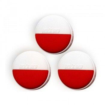 wibrastop PRO'S PRO VIBRA STOP POLSKA x 3 WHITE/RED